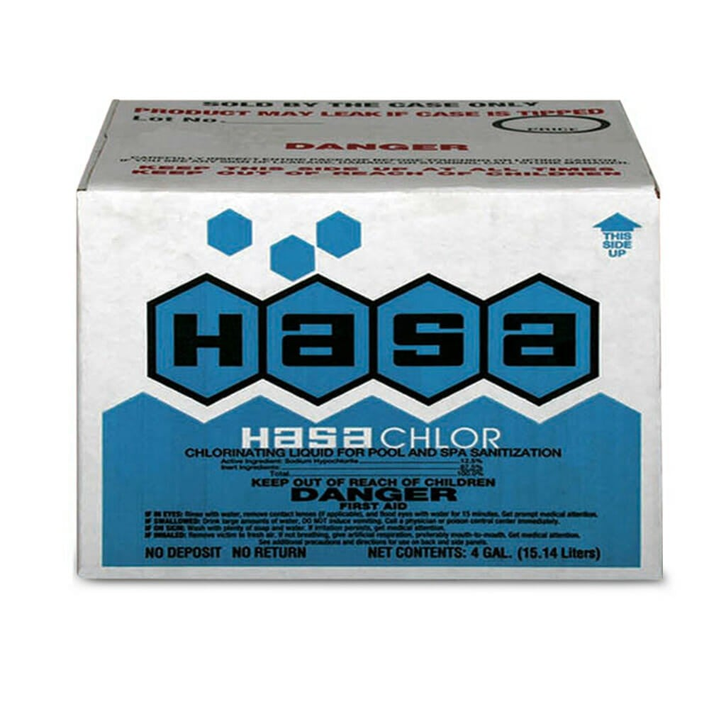 HASA - LIQUID CHLORINE 4 GALLON (NO DEPOSIT)
